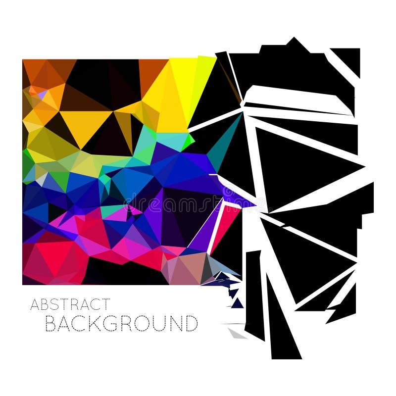 Fond abstrait de vecteur de triangle photographie stock
