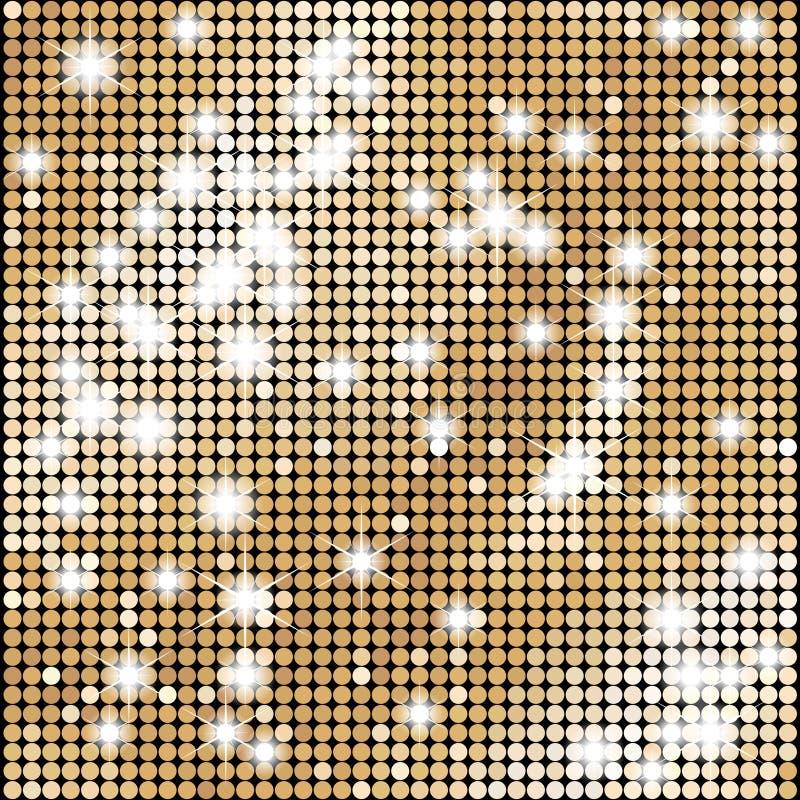 Fond abstrait de vecteur de mosaïque d'or avec des lumières illustration de vecteur