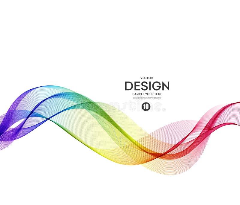 Fond abstrait de vecteur, onduleux violet bleu illustration stock