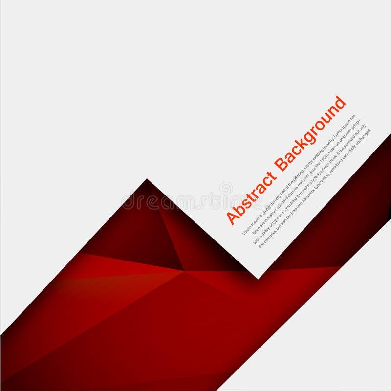 Fond abstrait de vecteur. Polygone rouge et noir illustration de vecteur