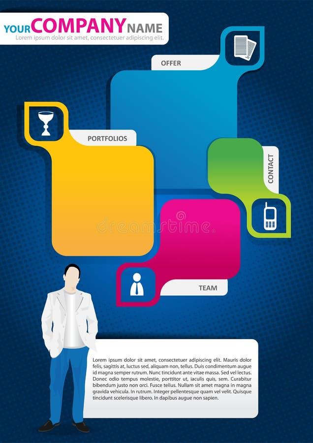 Fond abstrait de vecteur pour la brochure ou le site Web illustration libre de droits