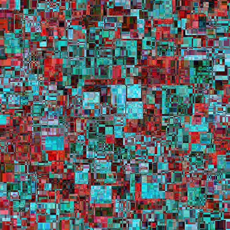 Fond abstrait de vecteur Se compose des éléments géométriques Les éléments ont une forme carrée et une couleur différente illustration de vecteur