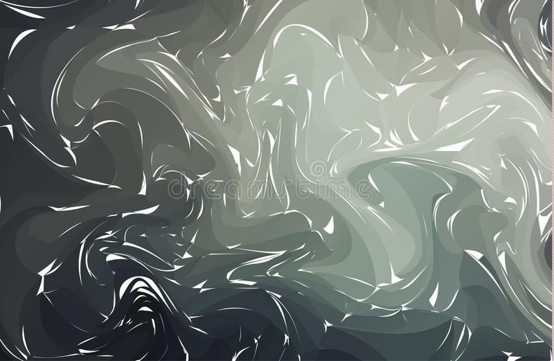 Fond abstrait de vecteur Texture de marbre d'encre Illustration tirée par la main de vecteur sur la texture de marbre de l'eau Mo illustration de vecteur