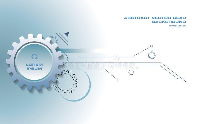 Fond abstrait de vecteur de vitesse avec des lignes dans la couleur bleue illustration libre de droits