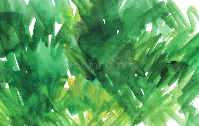 Fond abstrait de vert d'aquarelle Tache verte d'aquarelle photo stock