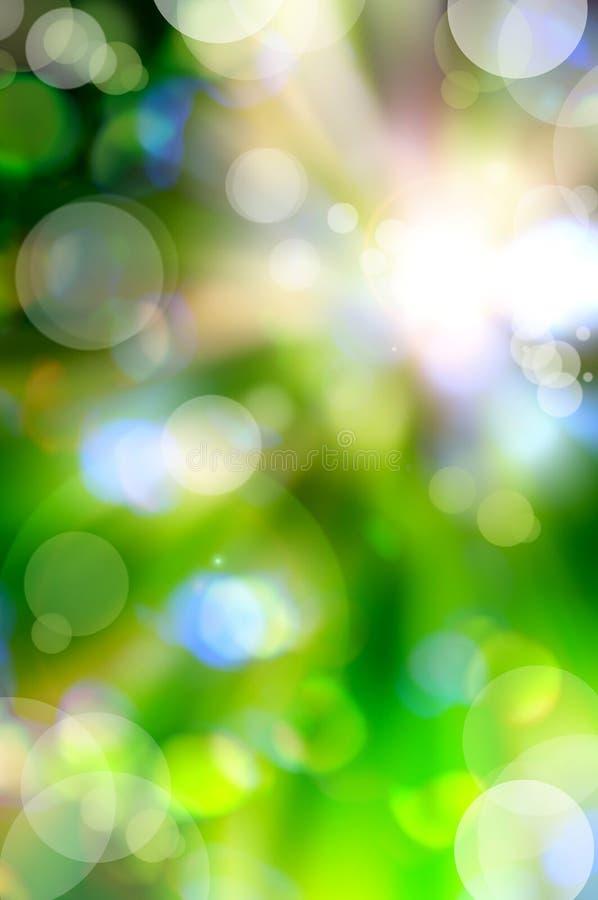 Fond abstrait de vert de source illustration libre de droits