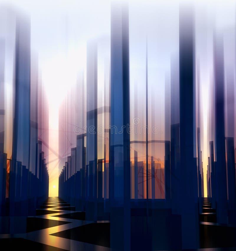 Fond abstrait de ville de nuit illustration libre de droits