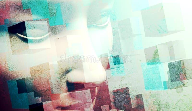 Fond abstrait de visage illustration de vecteur