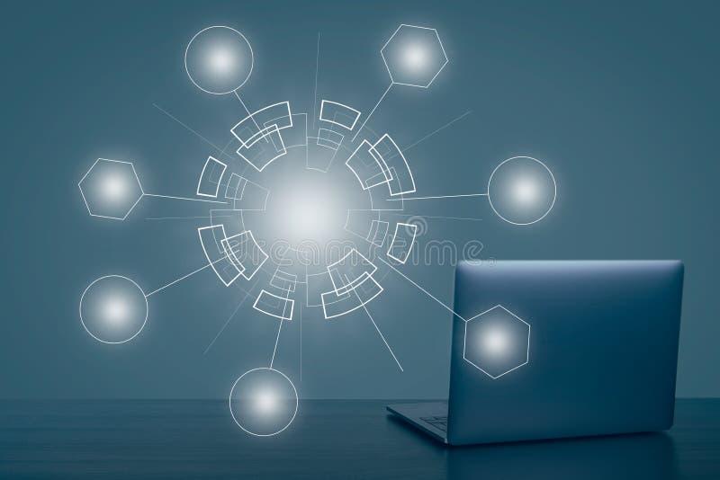 Fond abstrait de Web de technologie Connexion r?seau globale image stock