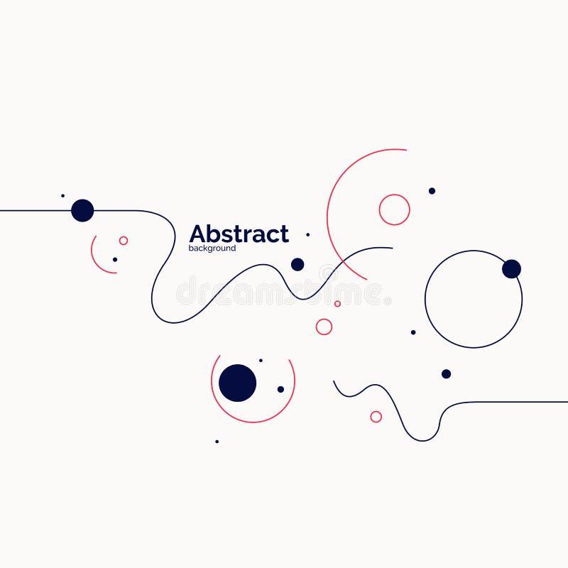 Fond abstrait dernier cri Composition des formes amorphes illustration de vecteur