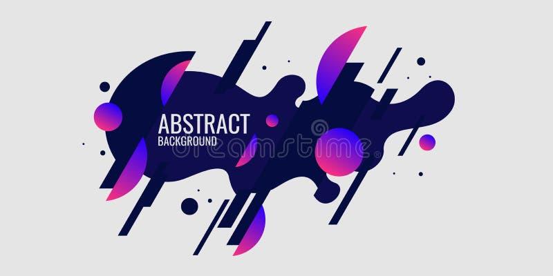 Fond abstrait dernier cri Composition des formes et des lignes amorphes illustration stock