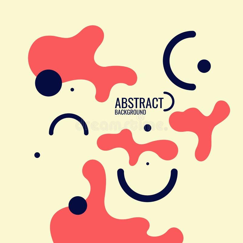 Fond abstrait dernier cri Composition des formes et des lignes amorphes illustration libre de droits