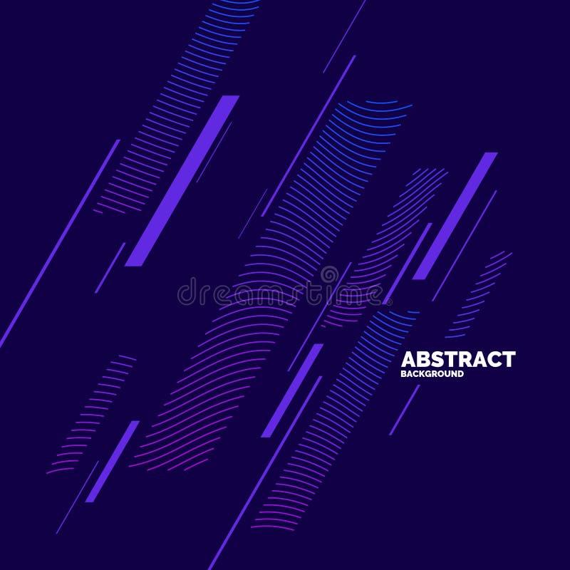 Fond abstrait dernier cri Composition des formes et des lignes amorphes illustration de vecteur