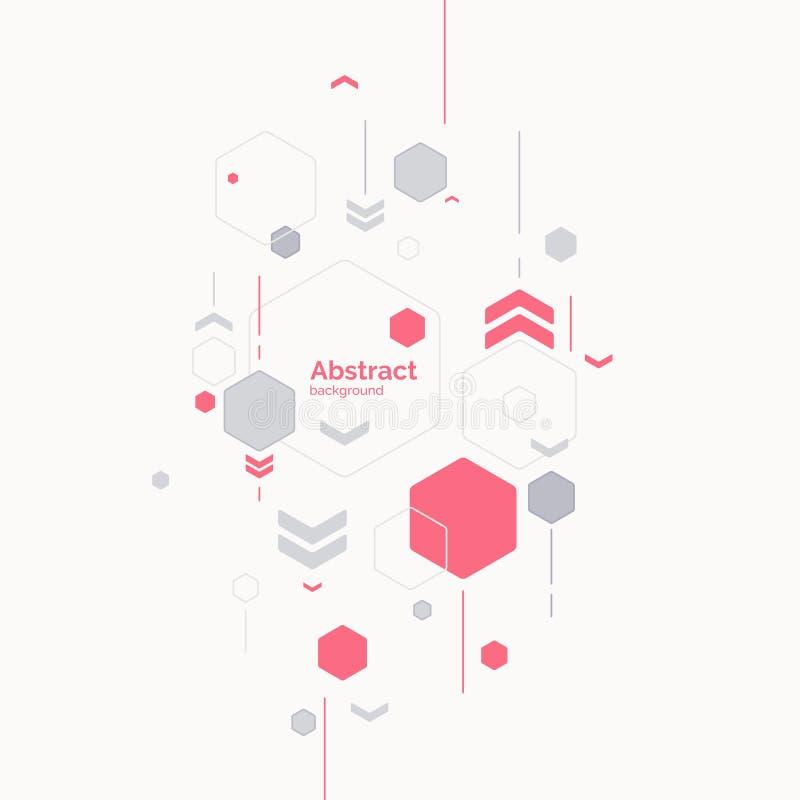 Fond abstrait dernier cri Composition des formes géométriques illustration de vecteur