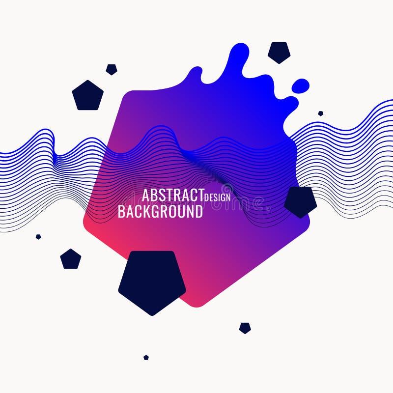 Fond abstrait dernier cri Composition des formes géométriques et de l'éclaboussure illustration stock