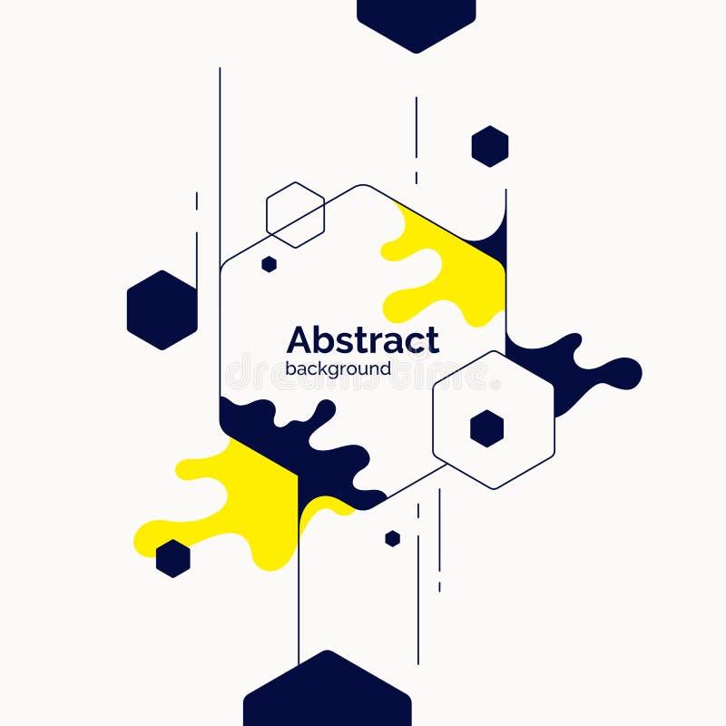 Fond abstrait dernier cri Composition des formes géométriques et de l'éclaboussure illustration de vecteur