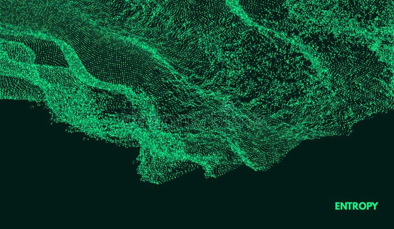 Fond abstrait dernier cri Rangée avec les particules dynamiques Élément moderne de la science ou de technologie illustration libre de droits