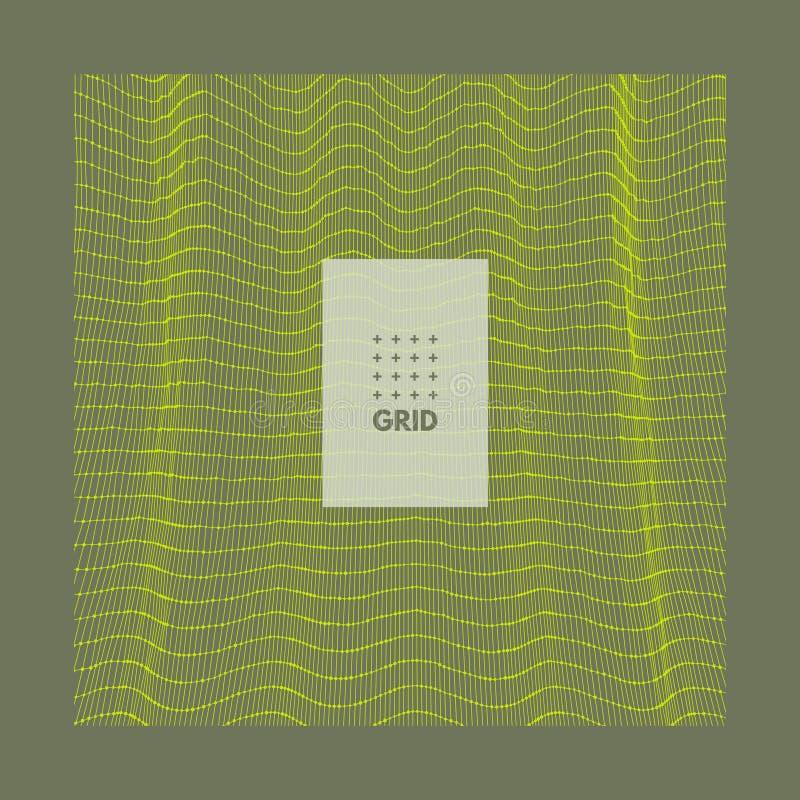 Fond abstrait dernier cri Rangée avec les particules dynamiques Élément moderne de la science ou de technologie Illustration de g illustration de vecteur