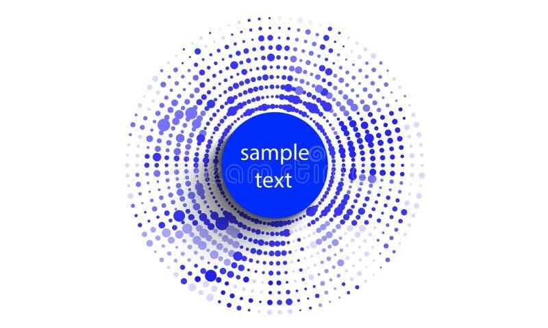 Fond abstrait des cadres d'image tramée de cercles illustration de vecteur