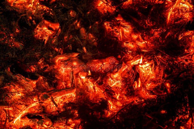 Fond abstrait des charbons brûlants photographie stock