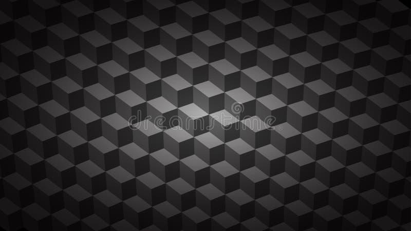 Fond abstrait des cubes isométriques illustration stock