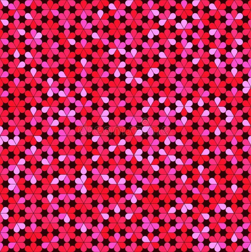 Fond abstrait des fleurs multicolores illustration libre de droits