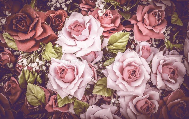 Fond abstrait des fleurs roses image stock