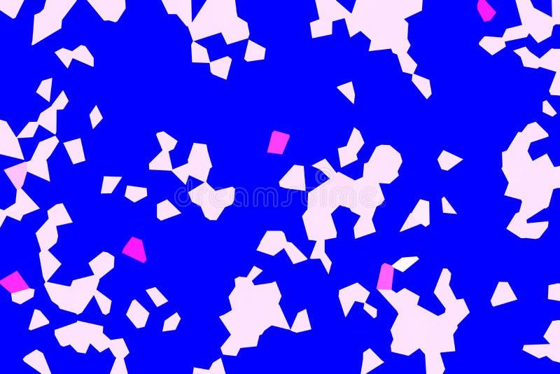 Fond abstrait des formes bleues et blanches illustration libre de droits