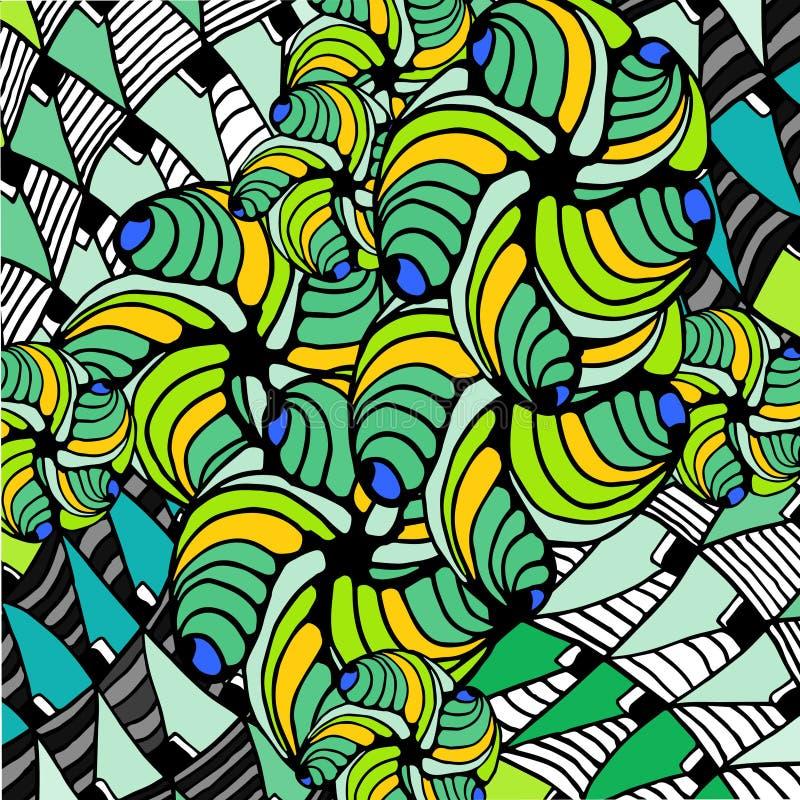 Fond abstrait des formes géométriques image libre de droits
