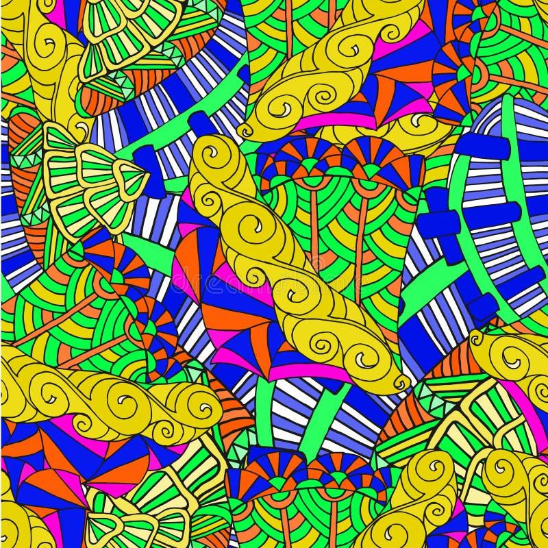 Fond abstrait des formes géométriques sans couture photos stock