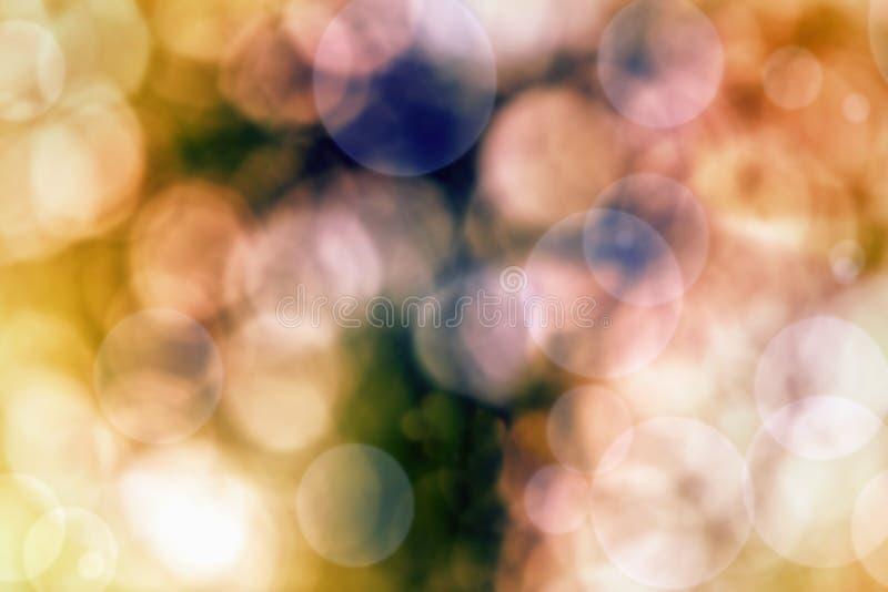 Fond abstrait des lumières et des étoiles de Noël image stock