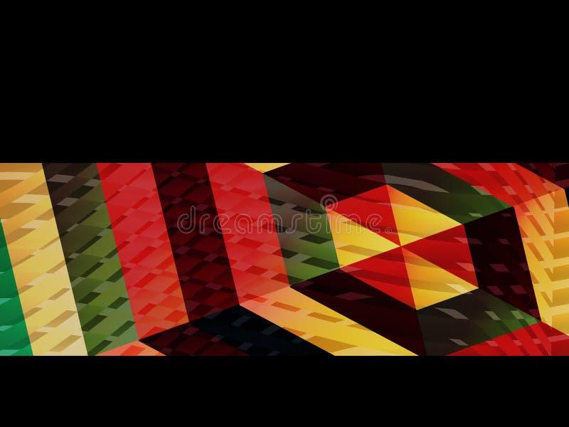 Fond abstrait, dessin géométrique, illustration de vecteur Tesselation géométrique de la surface colorée S illustration stock