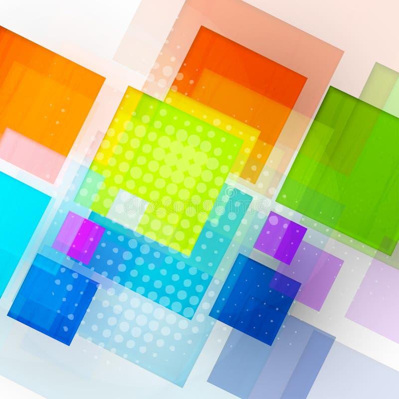 Fond abstrait du cube 3d illustration libre de droits