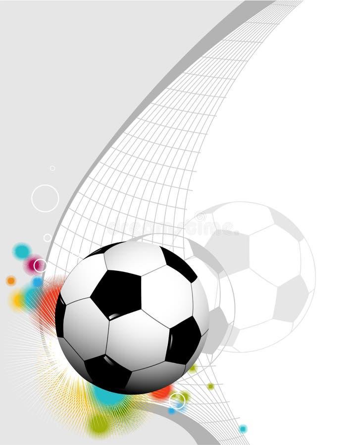 Fond abstrait du football illustration stock