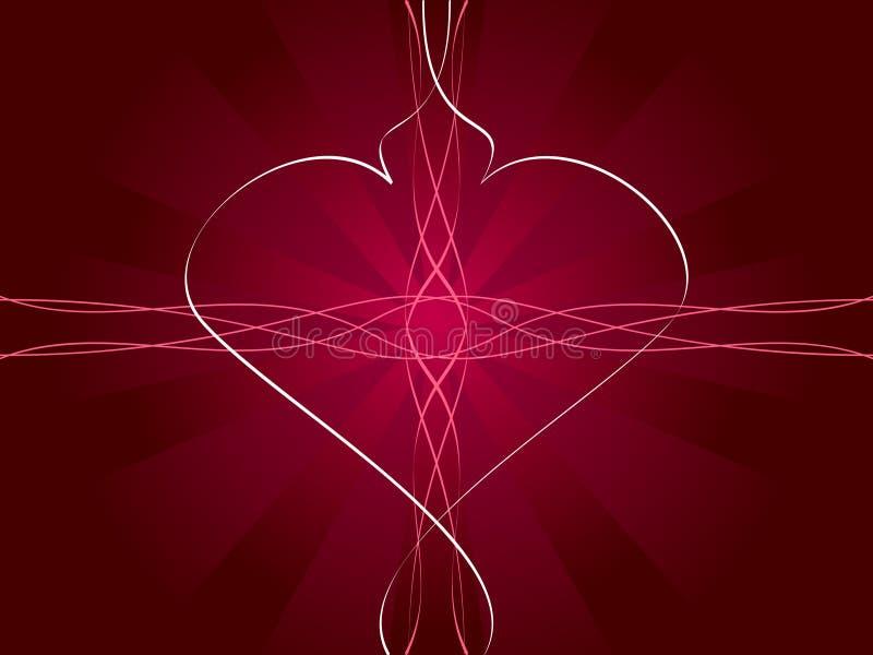 Fond abstrait du jour de Valentine illustration libre de droits