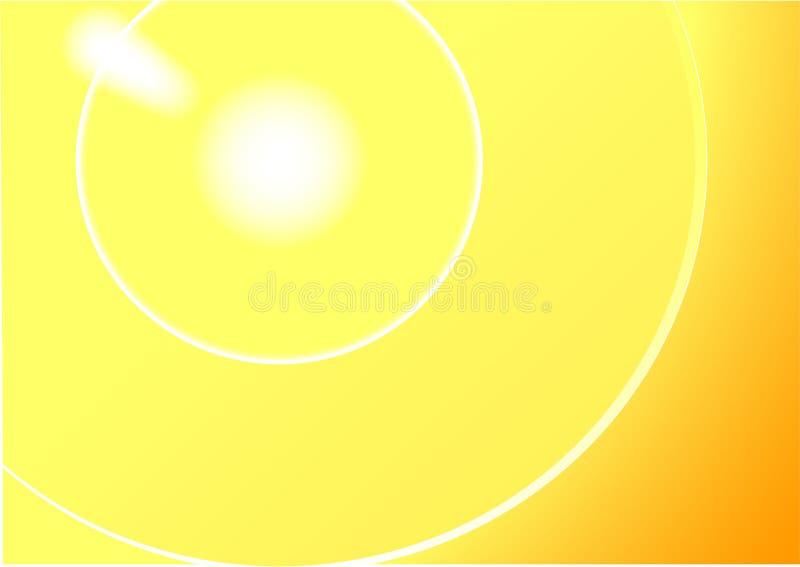 Fond abstrait du soleil image libre de droits