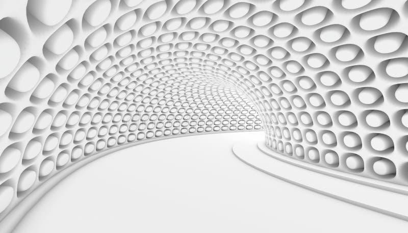 Fond abstrait du tunnel 3d illustration de vecteur