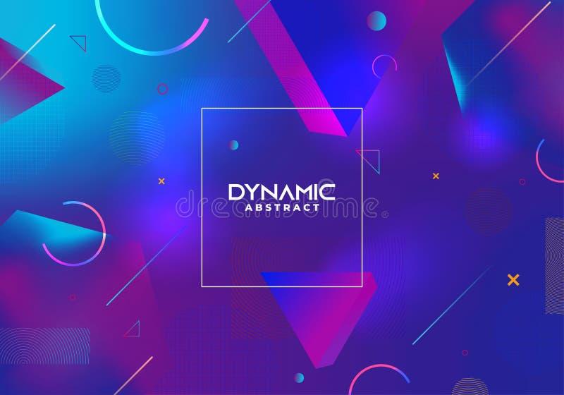 Fond abstrait dynamique avec dégradé bleu Vecteur eps 10 Design futuriste et coloré bleu illustration stock