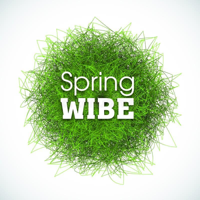 Fond abstrait, effet d'herbe pour des affiches, bannières et papiers peints Slogan de wibe de ressort Ilustration pour la copie illustration stock