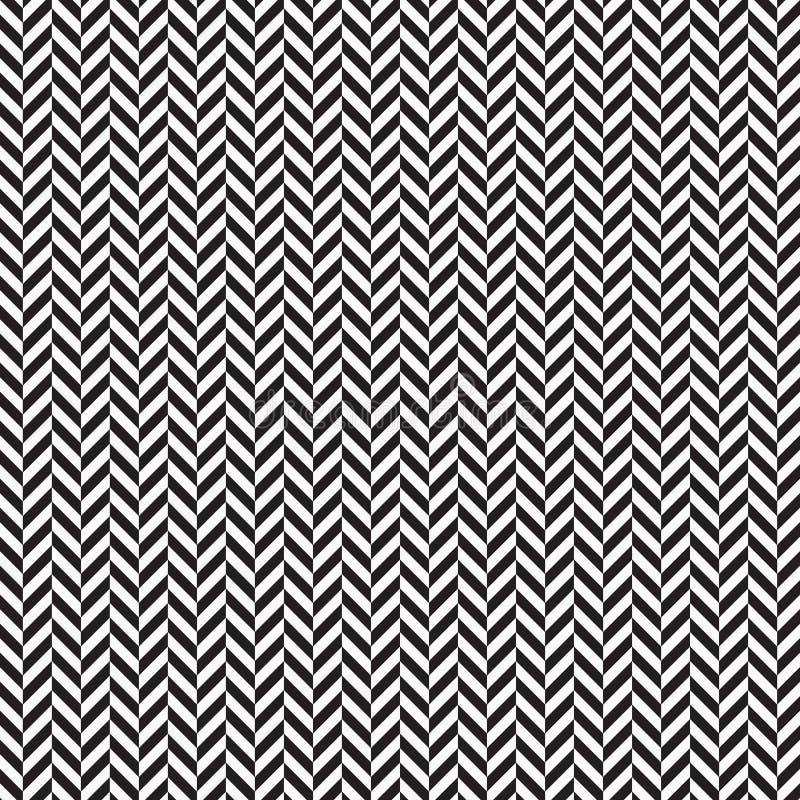 Fond abstrait en arête de poisson les couleurs noires apprêtent modèle avec des lignes de diagonale de chevron Ornement géométriq illustration de vecteur
