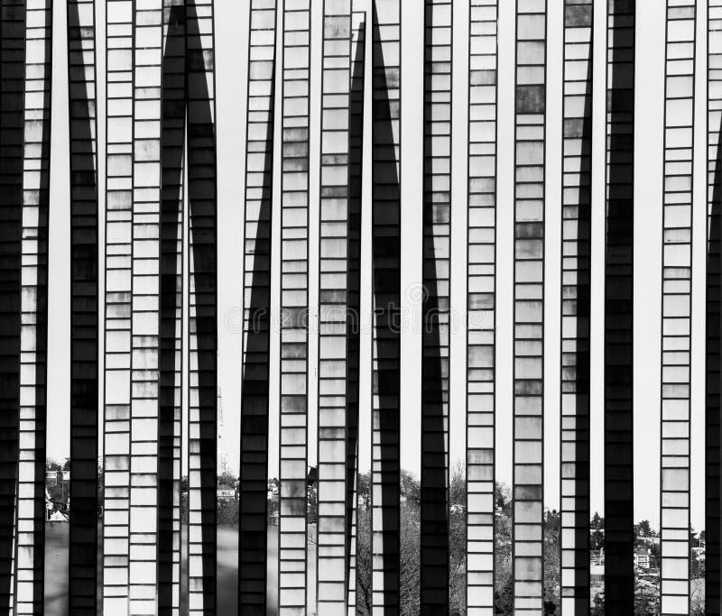 Fond abstrait en bambou en verre photographie stock libre de droits