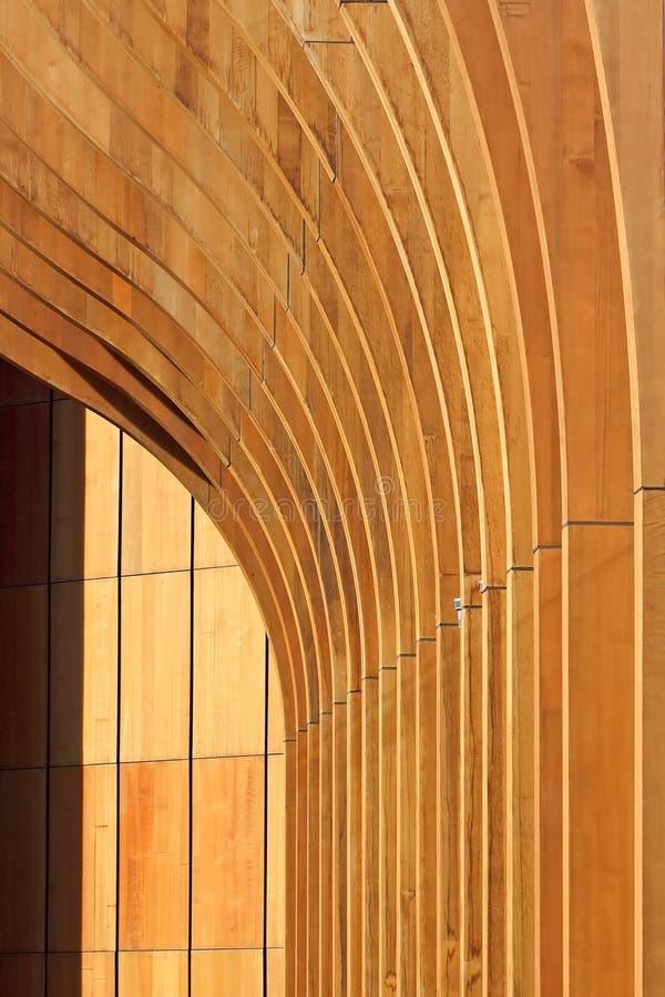 Fond abstrait en bois d'architecture images stock