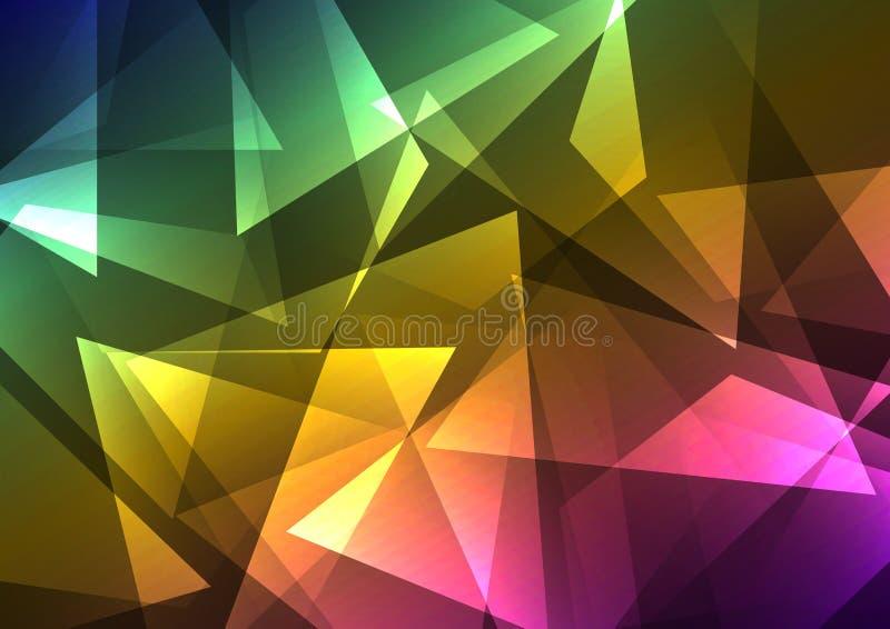 Fond abstrait en cristal d'arc-en-ciel illustration stock