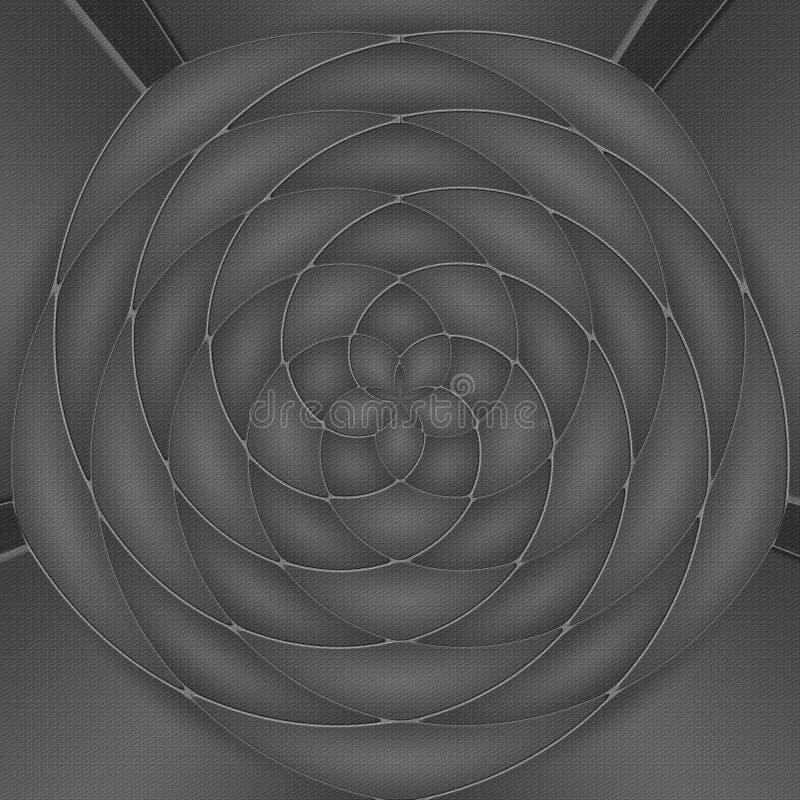 Fond abstrait en noir et blanc illustration libre de droits