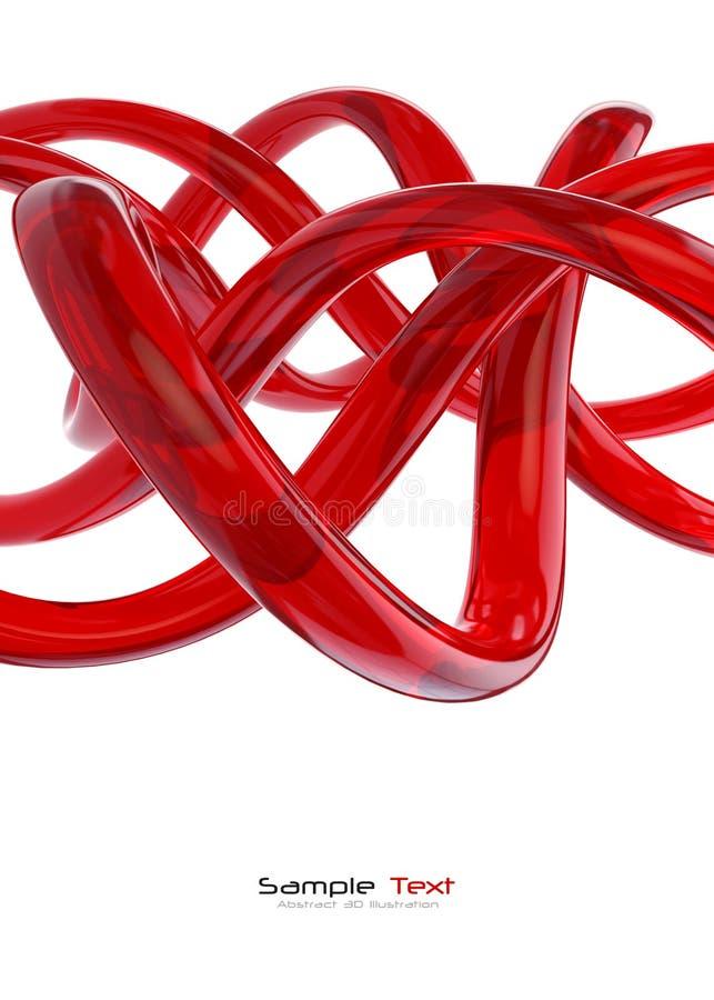 Fond abstrait en verre rouge illustration de vecteur