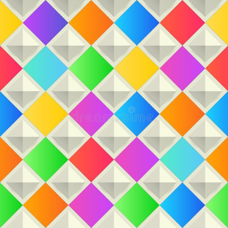Fond abstrait et coloré avec des formes de losange Vecteur, géométrique, calibre de papier peint de mode Conception matérielle illustration stock