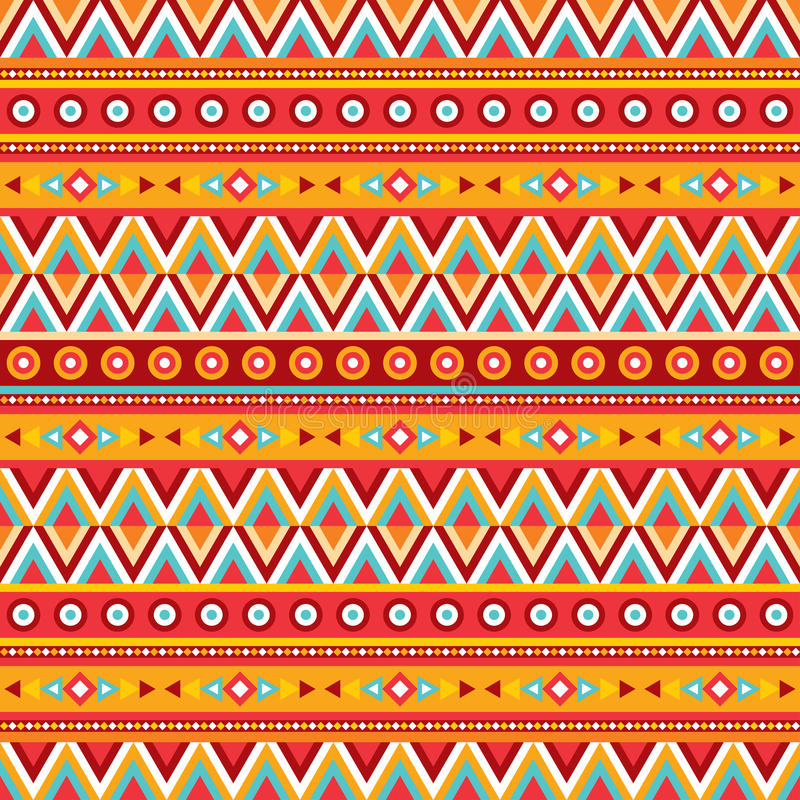 Fond abstrait ethnique Modèle sans couture tribal de vecteur Style de mode de Boho Conception décorative illustration stock