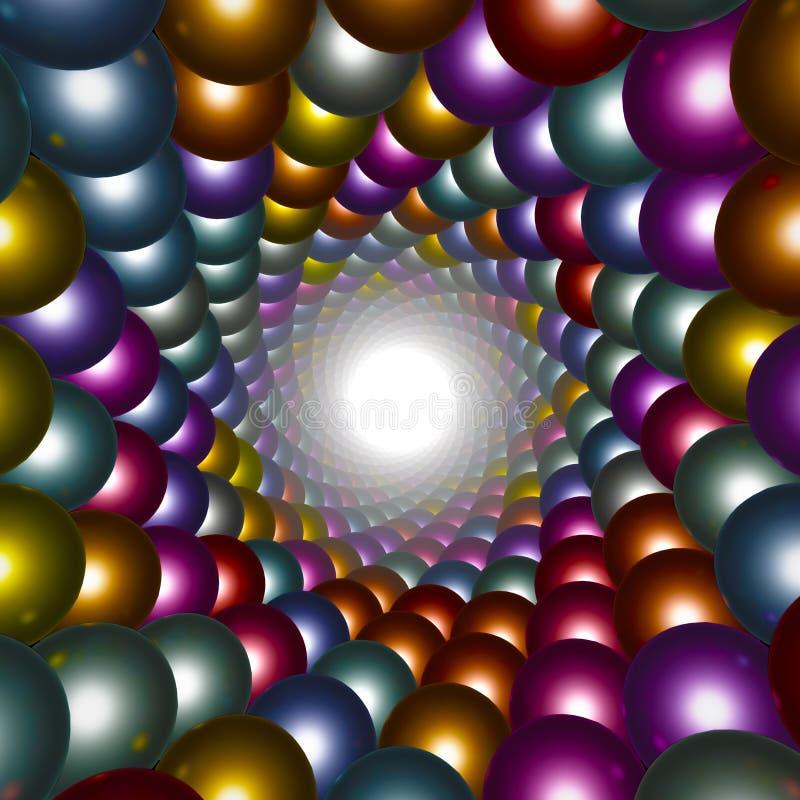 Fond abstrait fait de sphères illustration stock