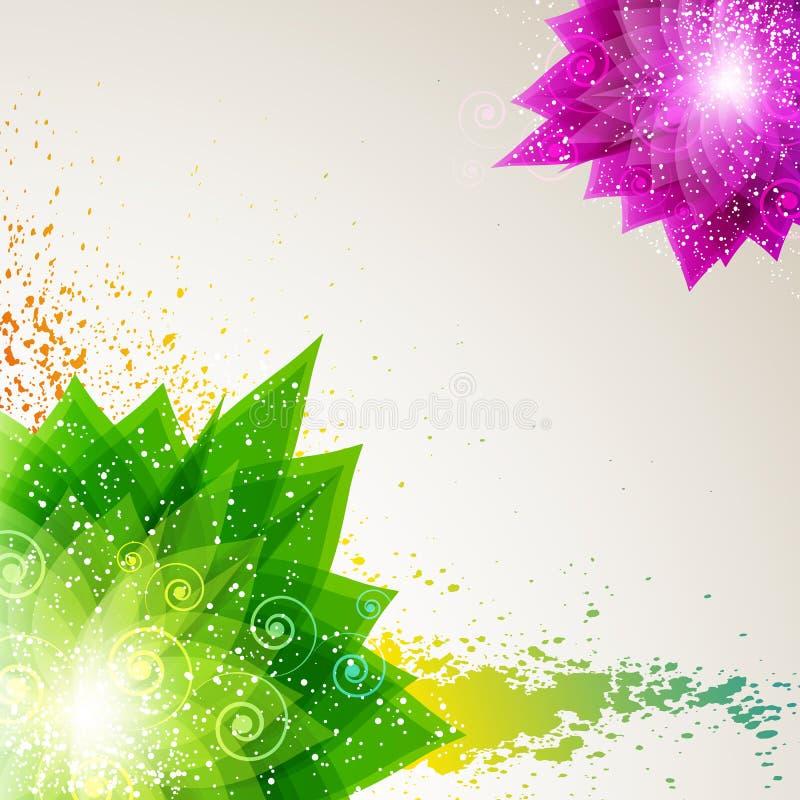 Fond abstrait floral. illustration stock