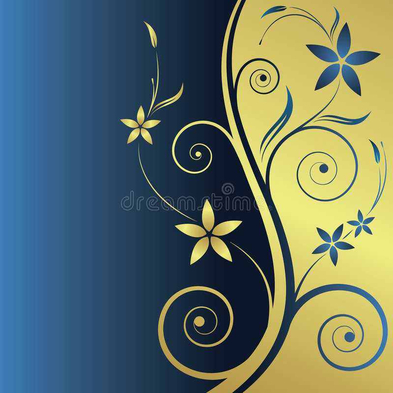 Fond abstrait floral image stock